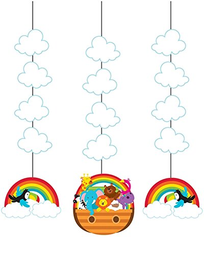3 Suspensions Multicolore Nuage & Animaux