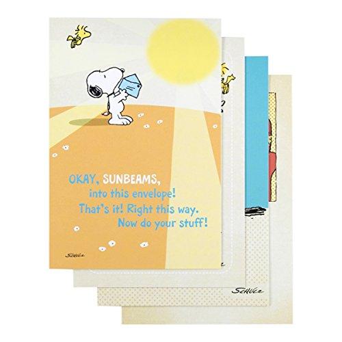 Dayspring Grußkarten Gute Besserung, geprägt mit ecru-farbenen Umschlägen, 12Stück, Peanuts (77553)