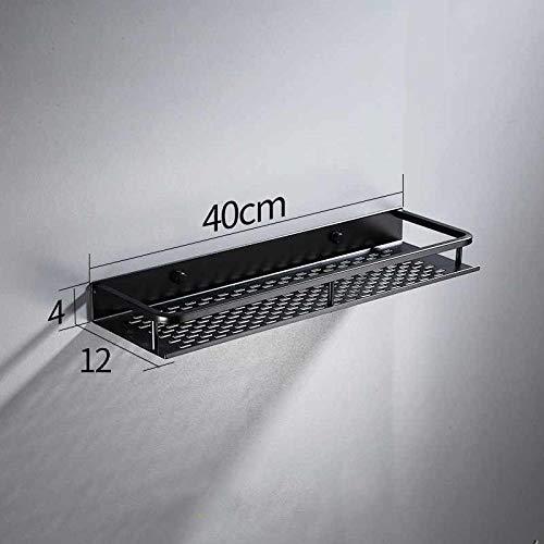 JSMY Estante de baño de Aluminio Negro Colgante de Pared Estante de...
