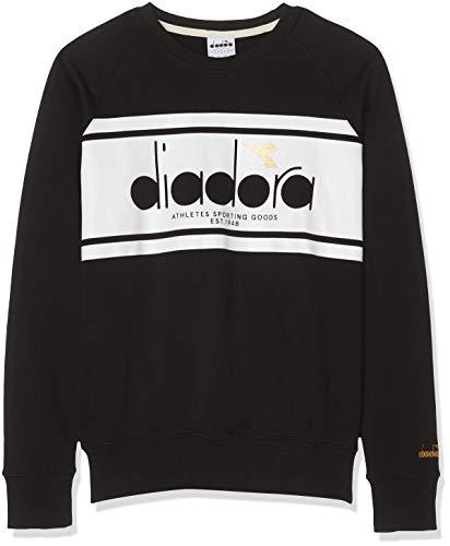 Diadora Sport Herren 502173795 Crew Spectra Sweatshirt, schwarz/weiß, S