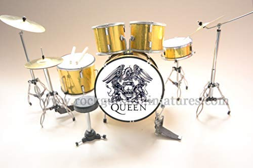 Rock Guitar Miniatures Rgm393 Queen Emblem Trommel Satz Freddy Mercury Brian May John Deacon Roger Taylor Bohemian Rapsody A Night At The Opera Killer We Are Chamipons Show Must Go On
