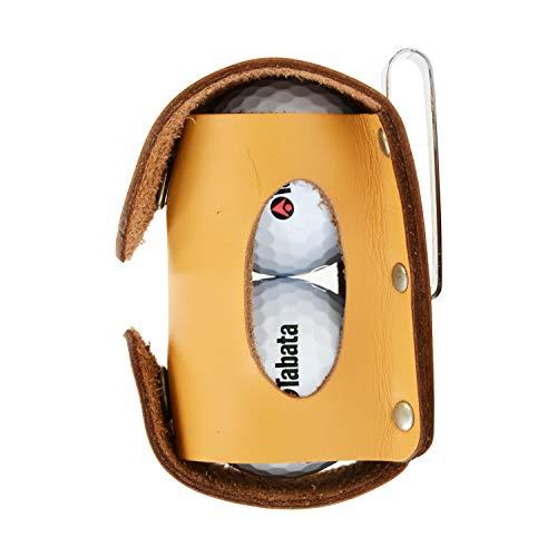 Tabata(タバタ)ゴルフボールケースボールポーチ2個本革ゴルフラウンド用品本革製ボールホルダーブラックGV0884BK