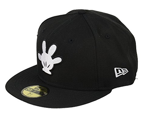 New Era Disney 59fifty Basecap Mickey Mouse White Hand Black - 7 1/2-60cm