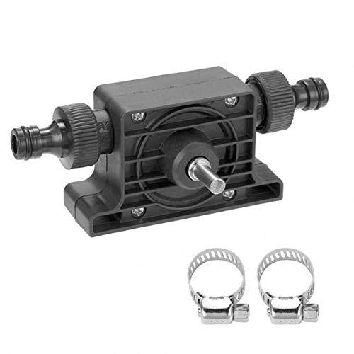 Monlladek Bohrpumpe, Ölflüssigkeit Wasserpumpe Tragbare elektrische Bohrpumpe Selbstansaugende Transferölflüssigkeit Wasserpumpe Schaft für Bohrmaschine (schwarz)