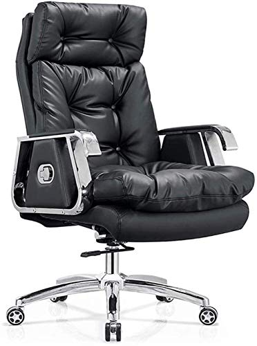 Fswallow Office Chair with Back Support Soft and Comfortable Leather Office Chair,Gaming Chair, Comfortable Waist Support Chair
