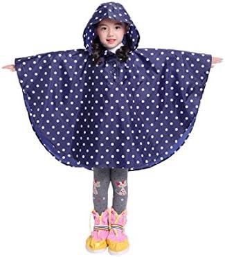 Kids Stylish Rain Poncho Waterproof Rain Jacket Coat for Girls Boys deep Blue S product image