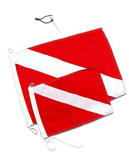 Best divers BANDIERA SUB Grande 40x30 cm Fahne, Weiß & Rot