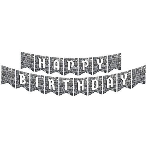 Cobblestone Banner, mittelalterliche Partyzubehör, Kopfsteinpflasterstein-Banner, Partydekoration, Hängedekorationen