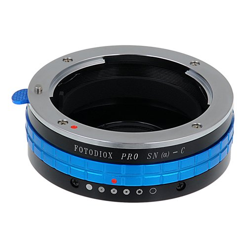 Fotodiox Pro Lens Mount Adapter Compatible with Sony A-Mount and Minolta AF Lenses to C-Mount Cameras