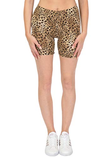 Women's Oh So Soft DTY Bike Shorts Brown Cheetah Small