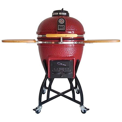 VISION Grills Ceramic Kamado (Large, Red)