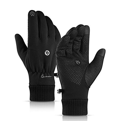 Phrat Winter Motorradhandschuhe Reithandschuhe Winddicht Verdickung Touchscreen Warme Handschuhe für Outdoor-Sportarten Wandern Skifahren
