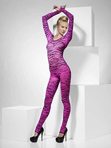 Smiffys Fever Damen Bodysuit mit Zebra Aufdruck, One Size, Pink, 33869