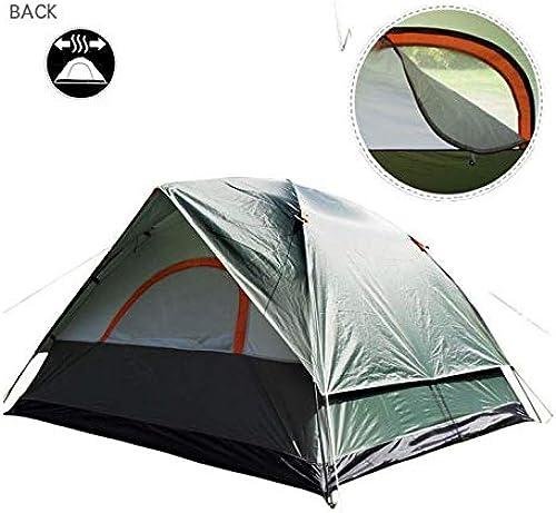 Trois Personnes 200x200x130Cm Double Tente de Camping en Plein air résistant à la météo pour la pêche, Chasse Aventure et fête de Famille