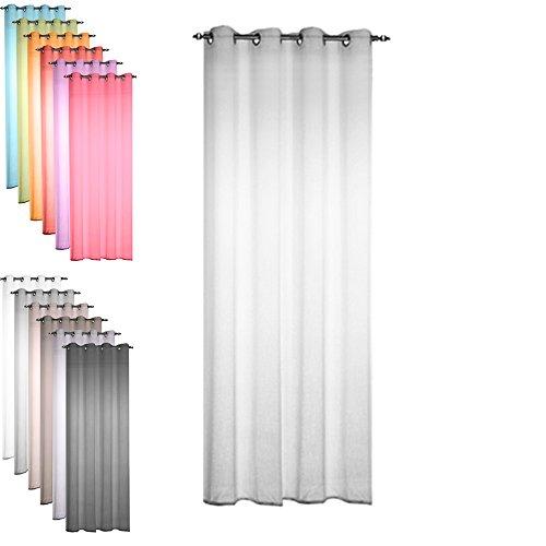 Today 257336 Voilage Polyester Zinc/Gris Clair 135 x 240 cm