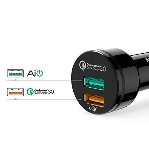 AUKEY Quick Charge 3.0 Kfz Ladegerät 34.5W Dual Ports für Samsung S8, HTC 10, LG G5, iPhone 7/7 Plus, iPad Air 2/iPad Pro, Smartphones Tablets usw.