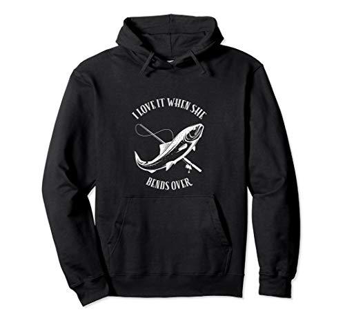 Fischen Hemd Mann Geschenk Liebe, wenn sie vorbei verbiegt Pullover Hoodie