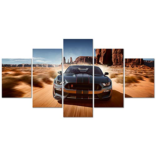 Ford Mustang Poster Shelby GT500 American Muscle Sports Car HD Print on Canvas Painting Wall Art for Living Room Decor Boy Gift (Unframed, Ford Mustang 3)