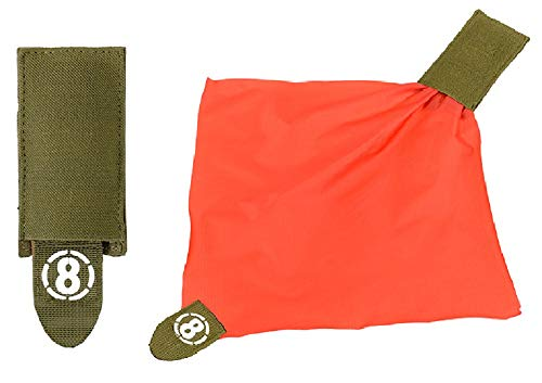 KOSxBO® Airsoft Deathrag - Taktische Molle Weste Oliv - grün - Softair Hittuch - Warnweste - Hit Tuch - Tasche grün - orange Softair Zubehör Ausrüstung Airsoft