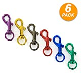 Ram Pro Aluminum Spring Snap Hook Set Rustproof and Anodized Finish Great for Quick Connec...