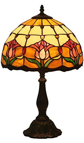 AWCVB Lampada da Tavolo Vintage Tiffany Lampshade Camera da Letto Soggiorno Baroque Desk Lamp