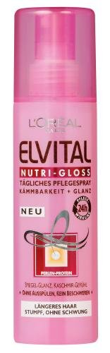L'Oréal Paris Elvital Nutri-Gloss Pflegespray, 2er Pack (2 x 200 ml)