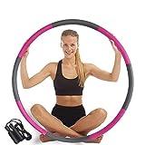 LLKK Hula Hoop Hula Hoop para adultos con espuma de 8 secciones extraíble y ajustable diseño de ancho (28-37.4 pulgadas) adecuado para niños y principiantes