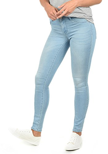 ONLY Feli Damen Jeans Denim Hose Röhrenjeans Aus Stretch-Material Skinny Fit, Farbe:Light Blue Denim, Größe:S/ L34