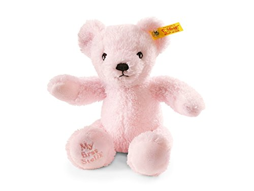 Steiff Soft and Cuddly Baby Safe Pink My First Steiff Teddy Bear BOXED - 24cm