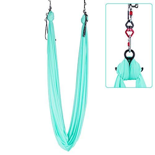 I-WILL Yoga Hammock 10M Aerial Silk Fabric Yoga Swing Set with Hardware Equipment Tool...