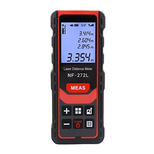 Kedelak 100m / 328ft Misuratore di distanza ricaricabile Palmare Palmare Distanziometro Strumento di misurazione della distanza ad alta precisione Misuratore di portata LCD digitale con