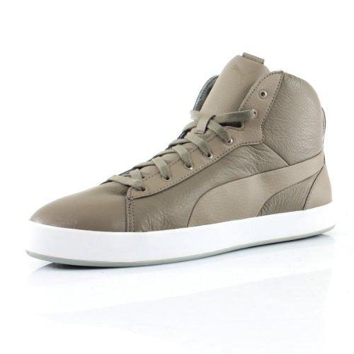 PUMA Soligo Mid Mens Leather Trainers/Shoes - Grey - Size EU 44
