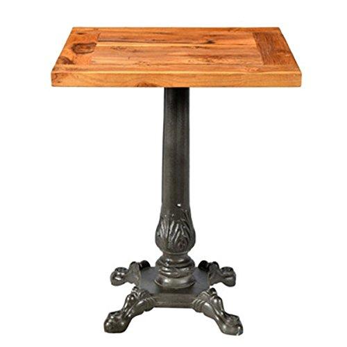 Casa Padrino Jugendstil Tisch/Beistelltisch Teak Holz/Eisen 60 x 60 x H74 cm - Cafe Restaurant Möbel