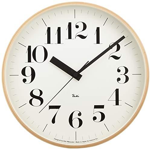 レムノス 掛け時計 アナログ 電波時計 天然色木地 リキクロック RIKI CLOCK RC WR08-27 Lemnos ベージュ 直径:30.5㎝