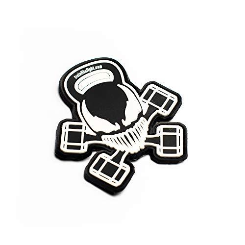 TRAINLIKEFIGHT - Parche (KETTLESKULL) Velcro (Macho/Hook) para Colocar en Chalecos Lastrados, Mochilas, Gorras, o Cualquier Superficie con Velcro Hembra/Loop (No Incluye Velcro Hembra/Loop)…
