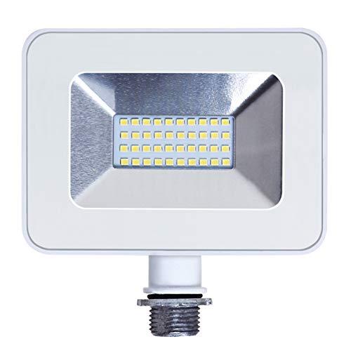ASD 20W LED Flood Light Outdoor with Arm - 5000K Daylight 1770lm ETL Listed - Super Bright Outdoor Light - White Slim LED Flood Light Fixture - Landscape Yard Lighting