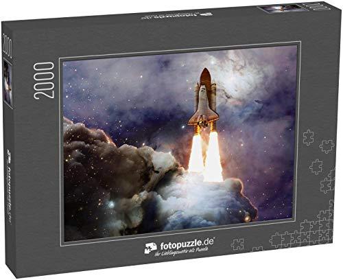 fotopuzzle.de Puzzle 2000 Teile Space Shuttle startet zu Einer Mission Weltraum Die Schönheit des endlosen Universums