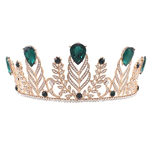 jojofuny Nupcial Barroca Hoja de Diamantes de Imitación Coronas Niña Tiara de...