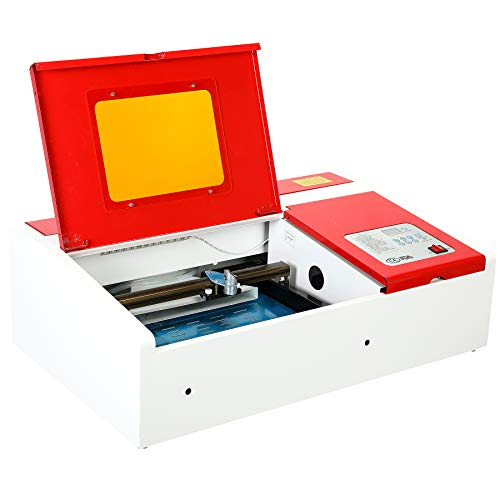 Orion Motor Tech 40W Co2 Laser Engraving Cutting Machine with 12 x 8 Inch Engraver Table and USB Port, Compact Desktop DIY Laser Cutter for Wood Stone Plastic Etc. for Home Business with Software