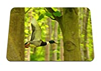 26cmx21cm マウスパッド (アヒルの鳥の飛行木) パターンカスタムの マウスパッド