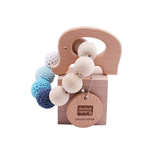 Mamimami Home Wooden Teether Holz Elefanten geformt Kinderkrankheiten Nursing Armband Chew Spielzeug Montessori Baby Teether Spielzeug