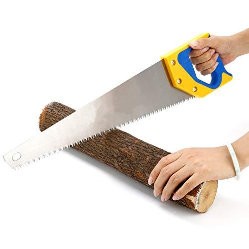 XiaoOu Scie à Main 1 PCS Scies à Bois durables Scie à Main à Dents Fines pour Le Travail du Bois Travail du Jardin Scies de Jardin Outils ménagers, C 45 CM