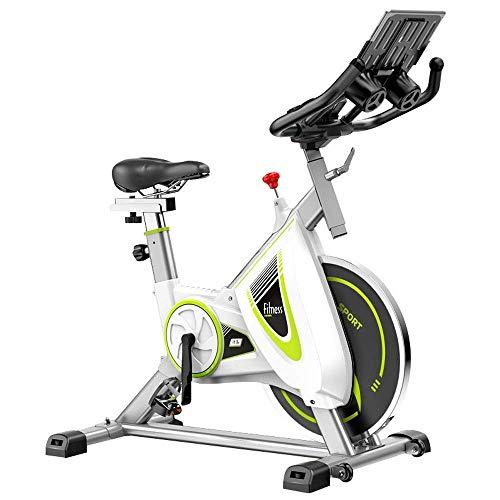 Deporte Ciclismo de interior Bicicleta estacionaria - Bicicleta estática,soporte para iPad y cómodo cojín de asiento y control de APP Bicicleta familiar Equipo de fitness para pérdida de peso Biciclet