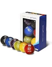 Longridge Keep Calm golfbollar (paket med 6)