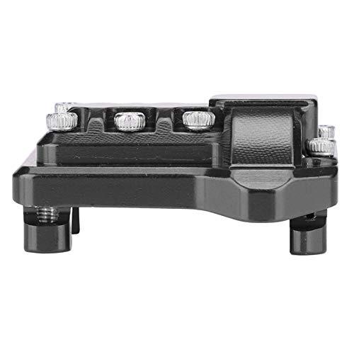 Cubierta diferencial de aleación de Aluminio CNC para Traxxas Cubierta de Eje RC de Proceso mecanizado CNC con Cubierta de Eje Trasero Delantero para Traxxas TRX-4(Black)
