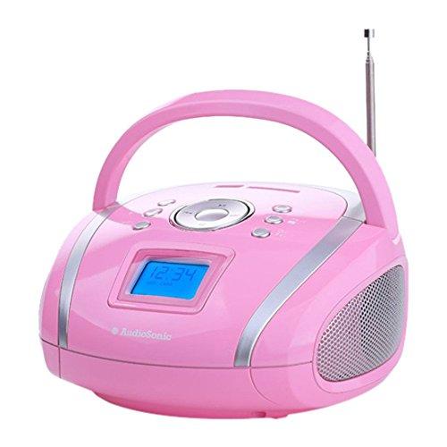 AudioSonic RD-1566 Stereoradio (USB, SD, MP3, 2X 2 Watt) pink