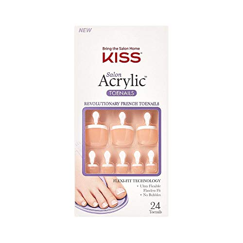 KISS Salon Acrylic French Nail Toenail - Walk Away