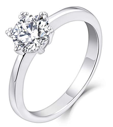 Anillos De Compromiso Oro Blanco Y Diamantes Precios marca YL