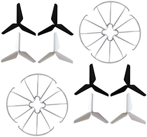 Fytoo 3 Blade Propellers 2sets Prop Guards 2sets for Syma X5 X5A X5C X5S X5SC X5W X5SW JJRC product image