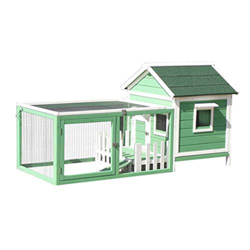 Casa de perro con porche de madera Al aire libre PET PET Cab